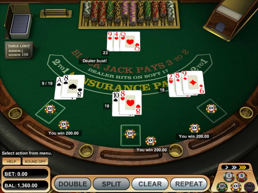 Single Deck Blackjack screenshot