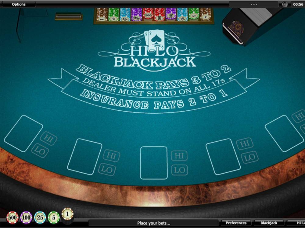 Hi lo Black Jack screenshot