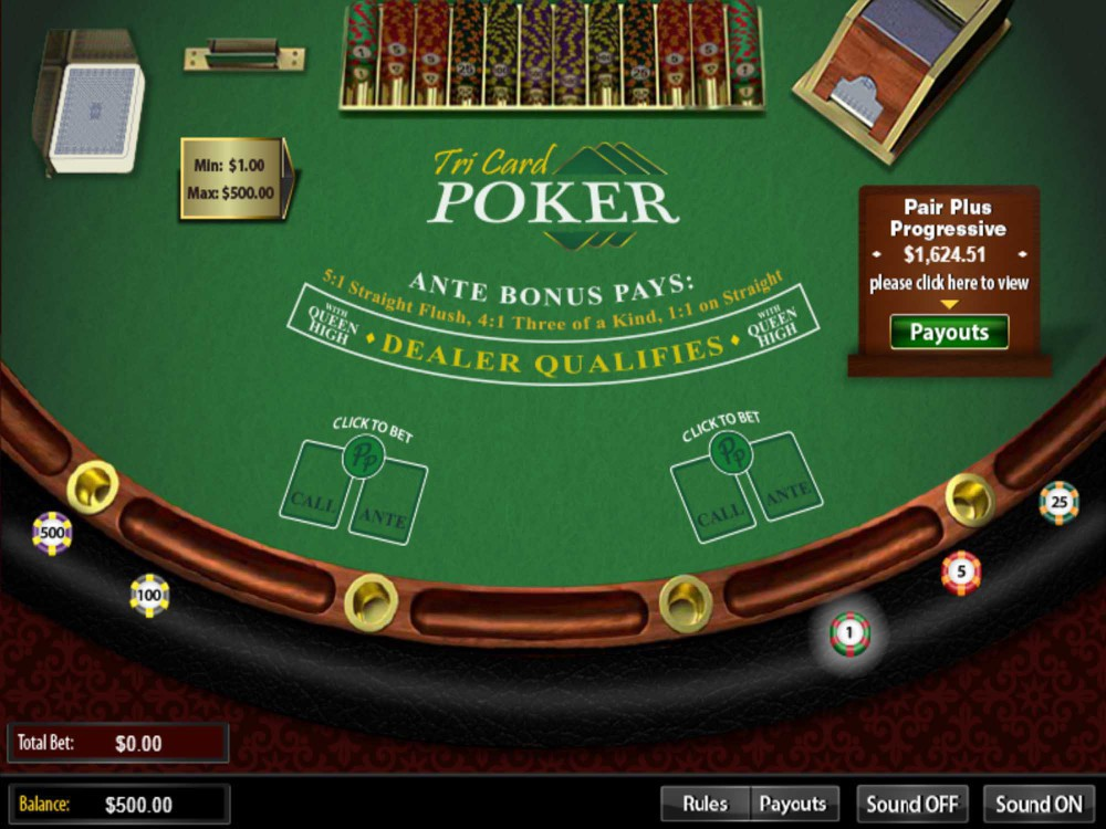 Arrow's Edge Tri Card Poker screenshot