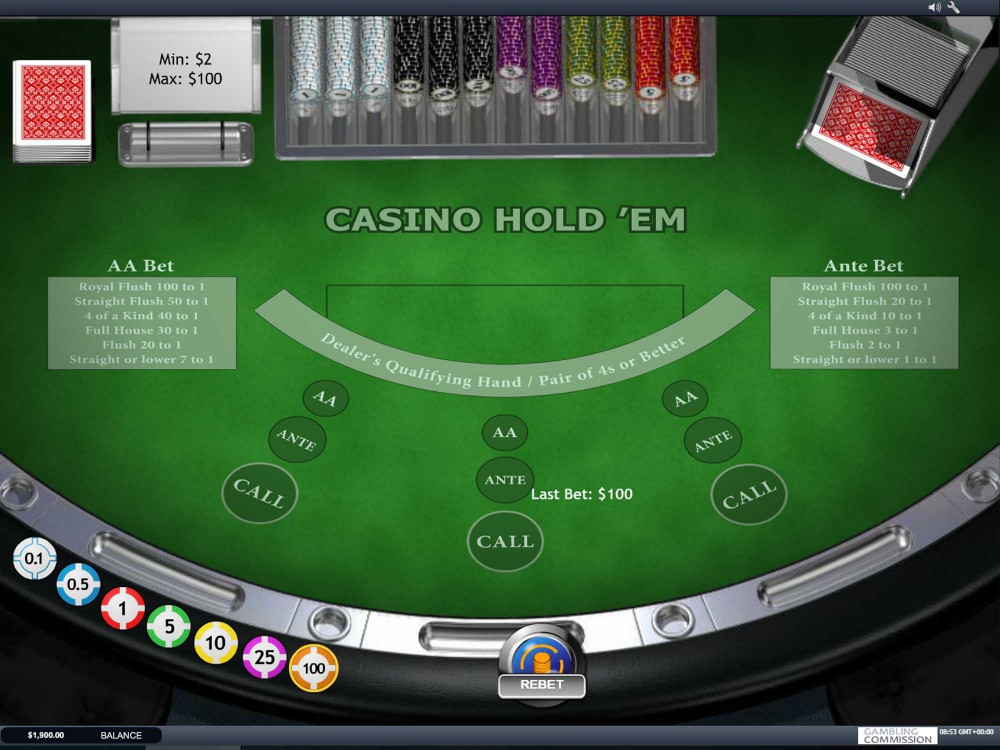 Playtech Casino Holdem screenshot