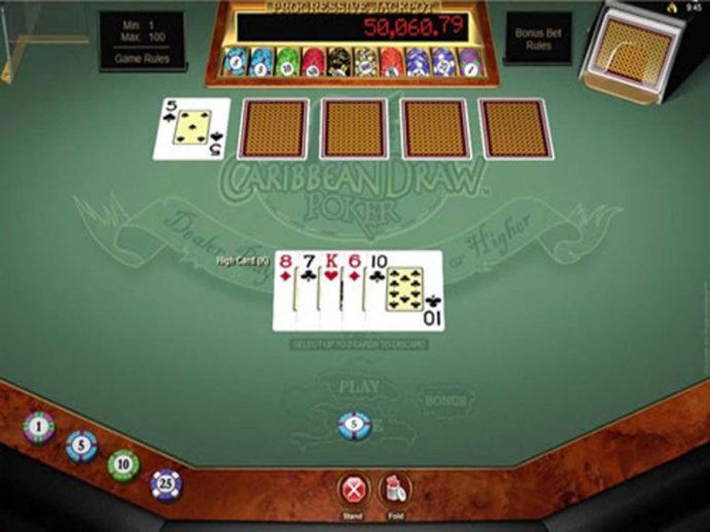 Microgaming Caribbean Draw Poker screenshot