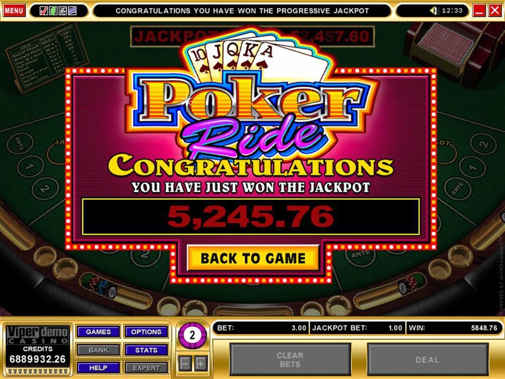 Microgaming Poker Ride screenshot