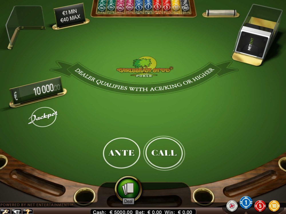 NetEnt Caribbean Stud Poker screenshot
