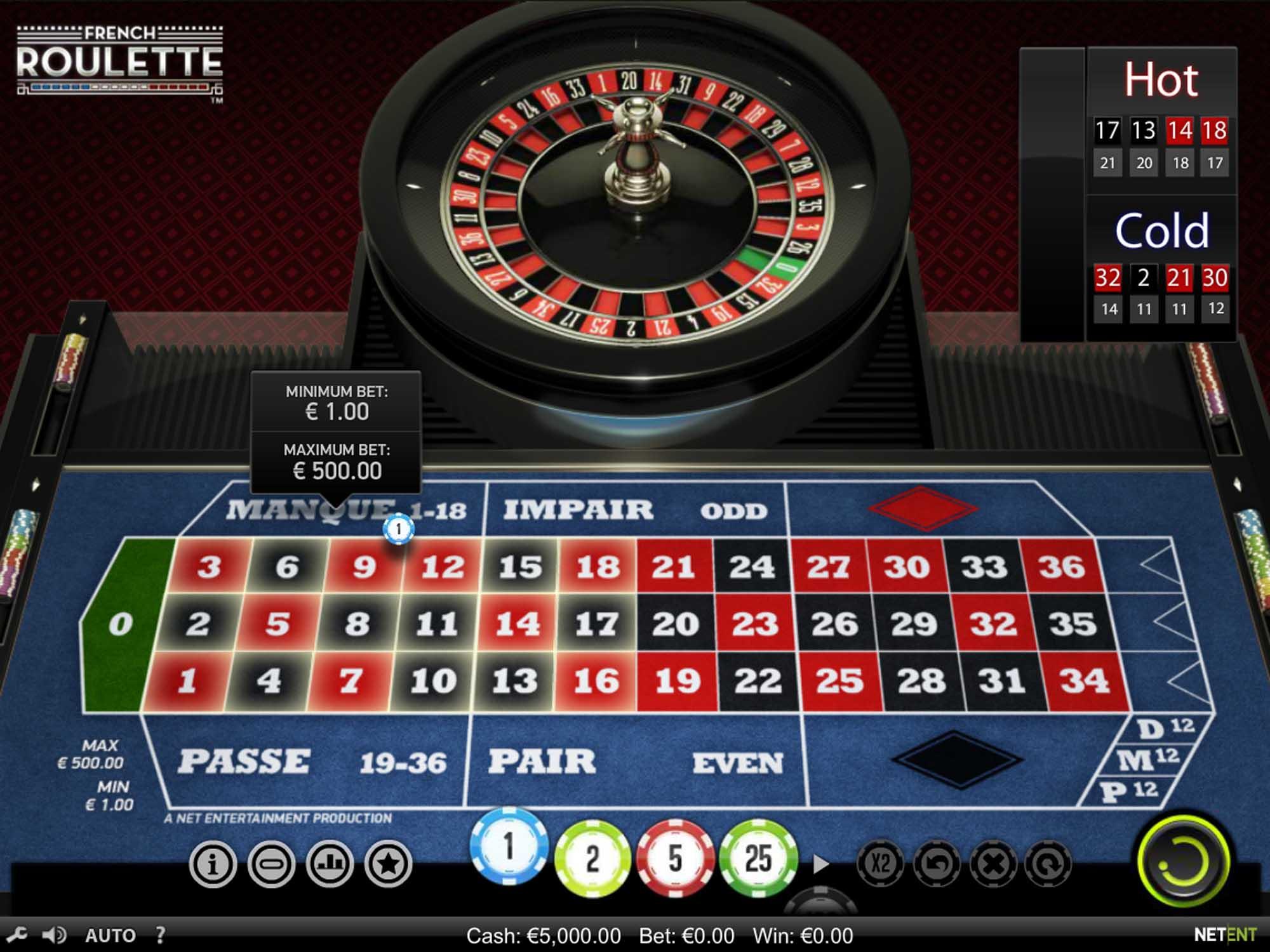 NetEnt French Roulette screenshot