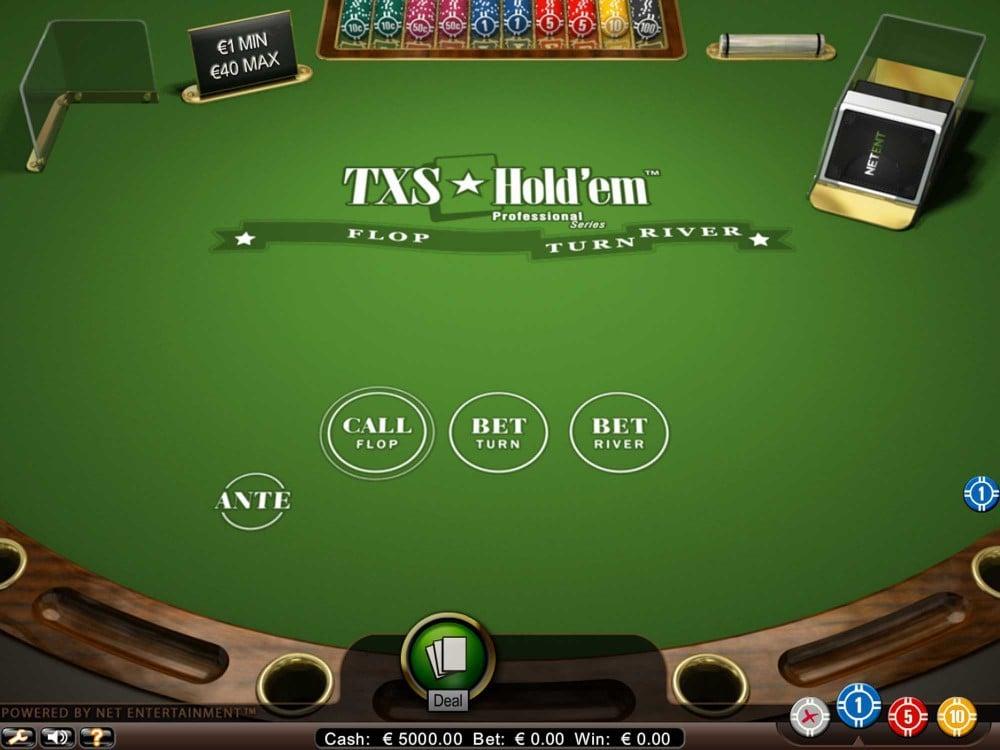 NetEnt Texas Holdem Pro screenshot