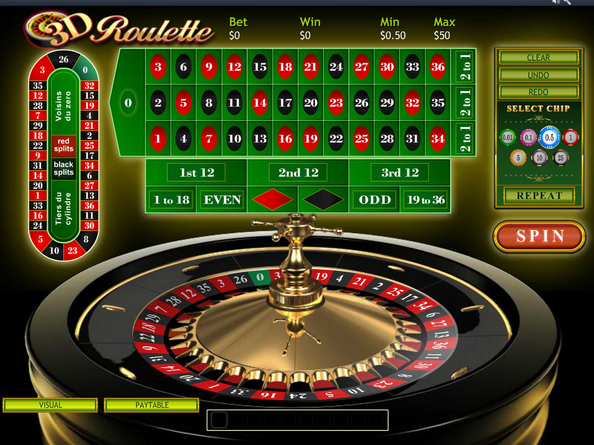 Playtech 3D Roulette screenshot