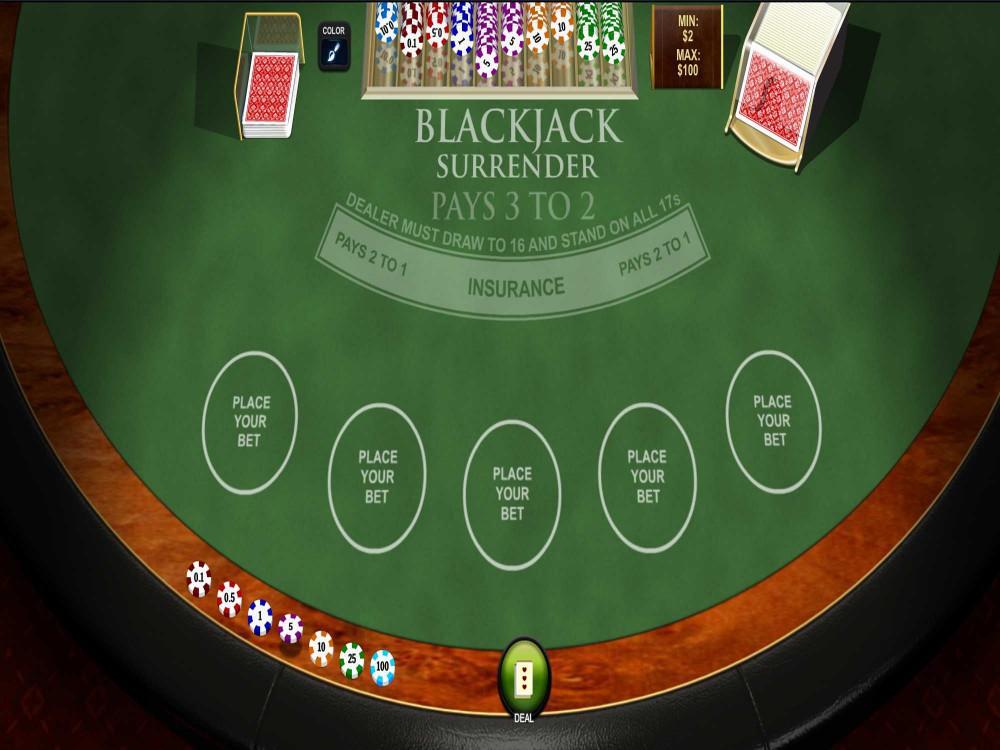 Playtech Blackjack Surrender Multihand screenshot