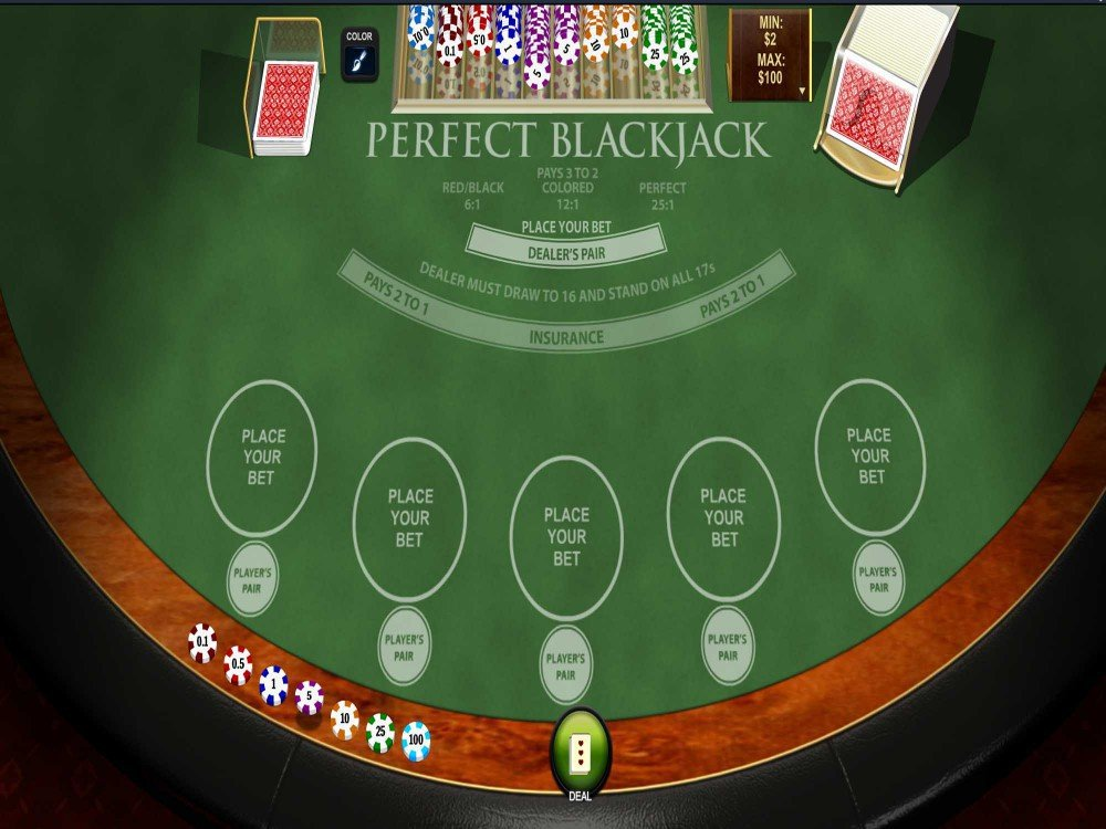 Playtech Perfect Blackjack screenshot