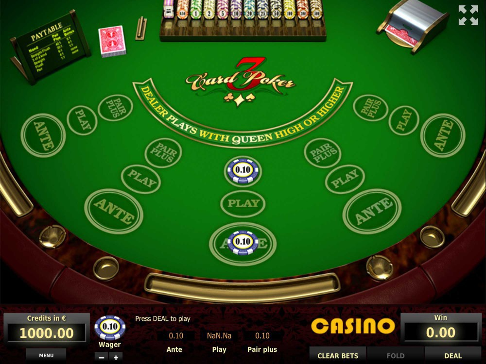 Tom Horn Games Three Card Poker screenshot