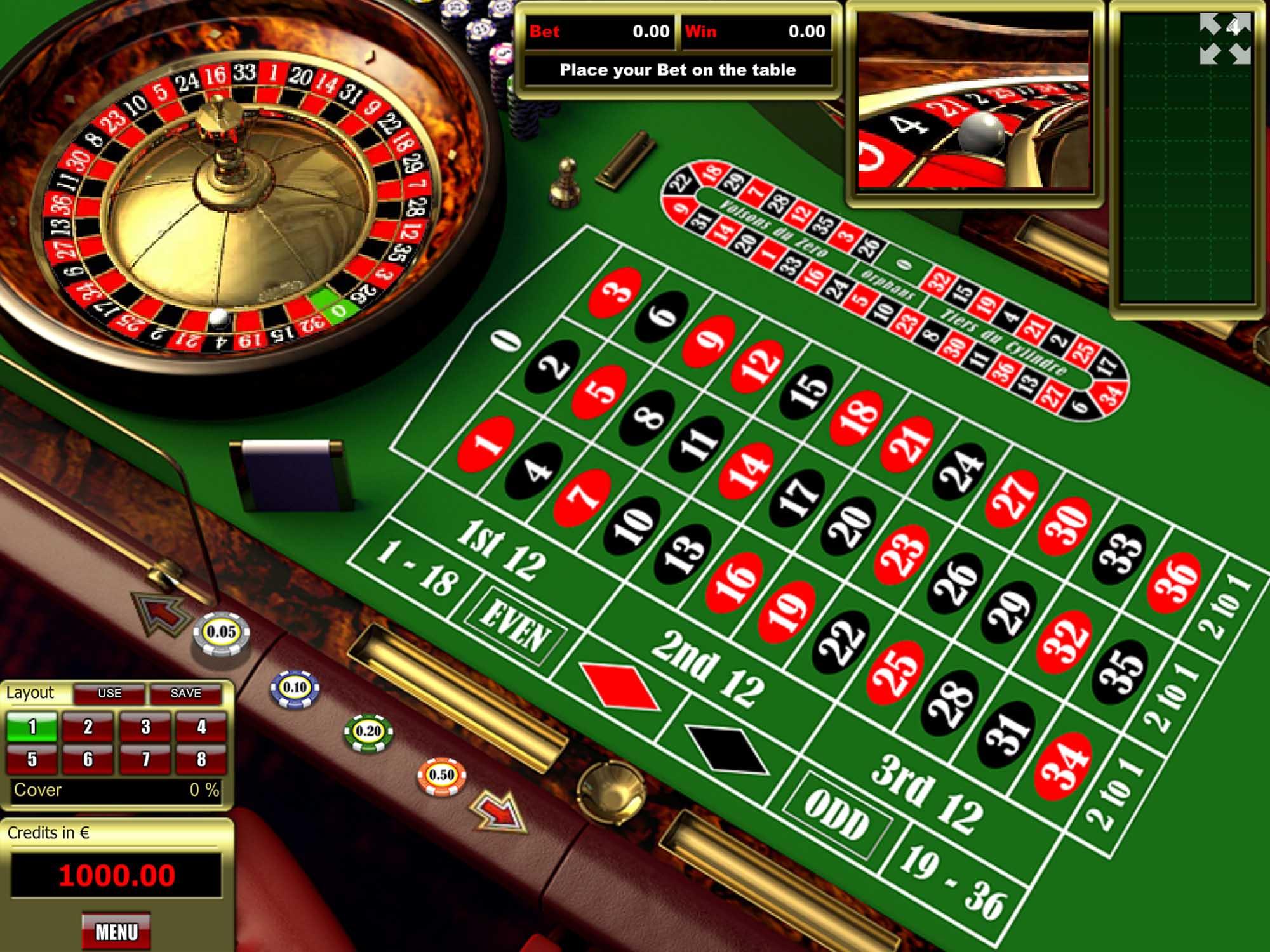 Tom Horn European Roulette screenshot