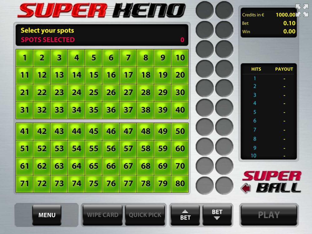 Tom Horn Super Keno screenshot