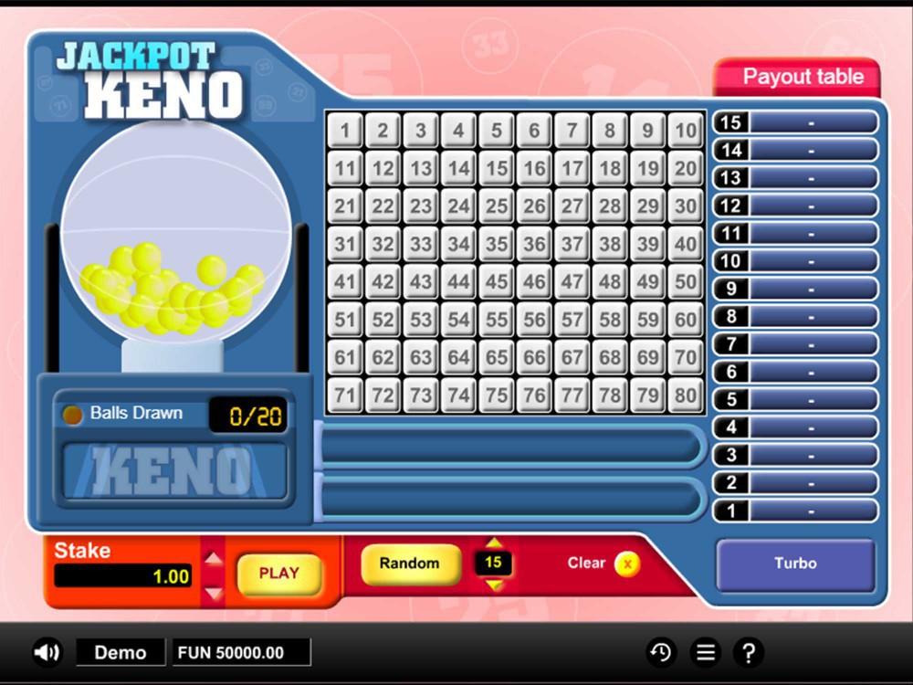 Jackpot Keno screenshot