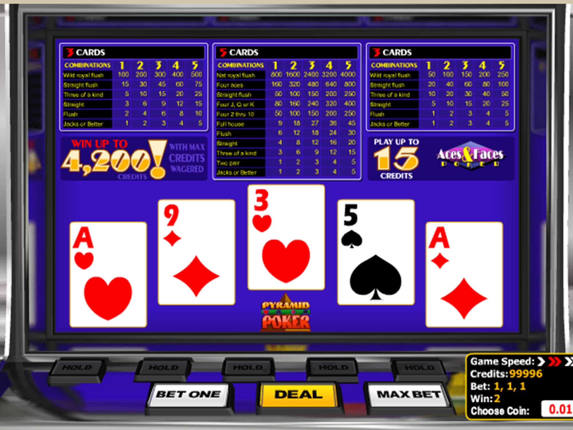 Aces & Faces Poker screenshot