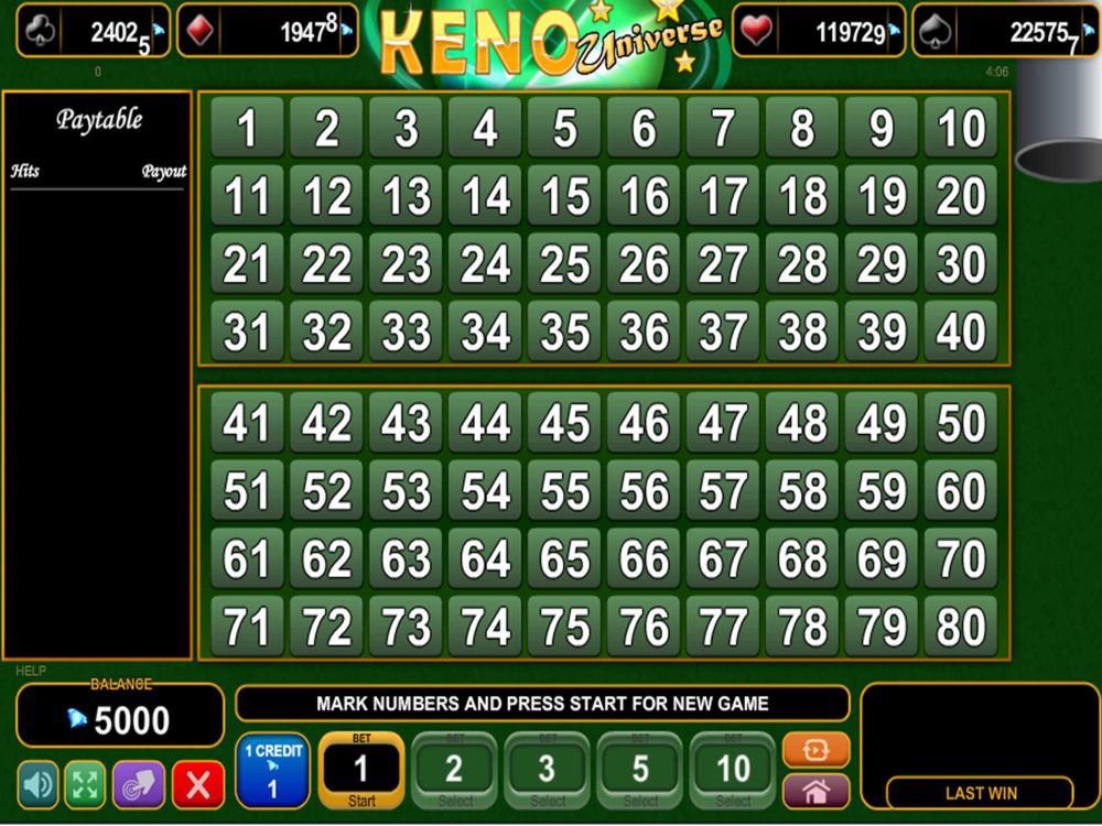 Keno Universe screenshot