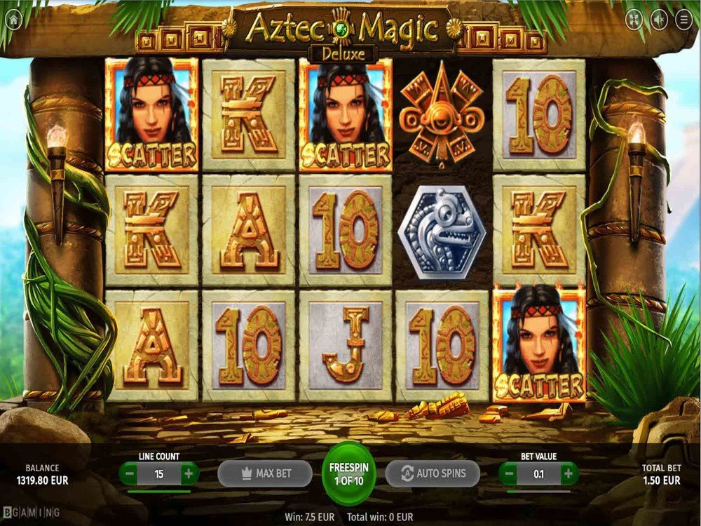Aztec Magic Deluxe Slot screenshot