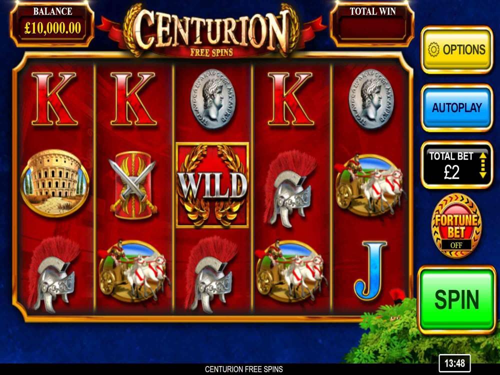 Centurion Free Spins Slot Slots Gamblerspick