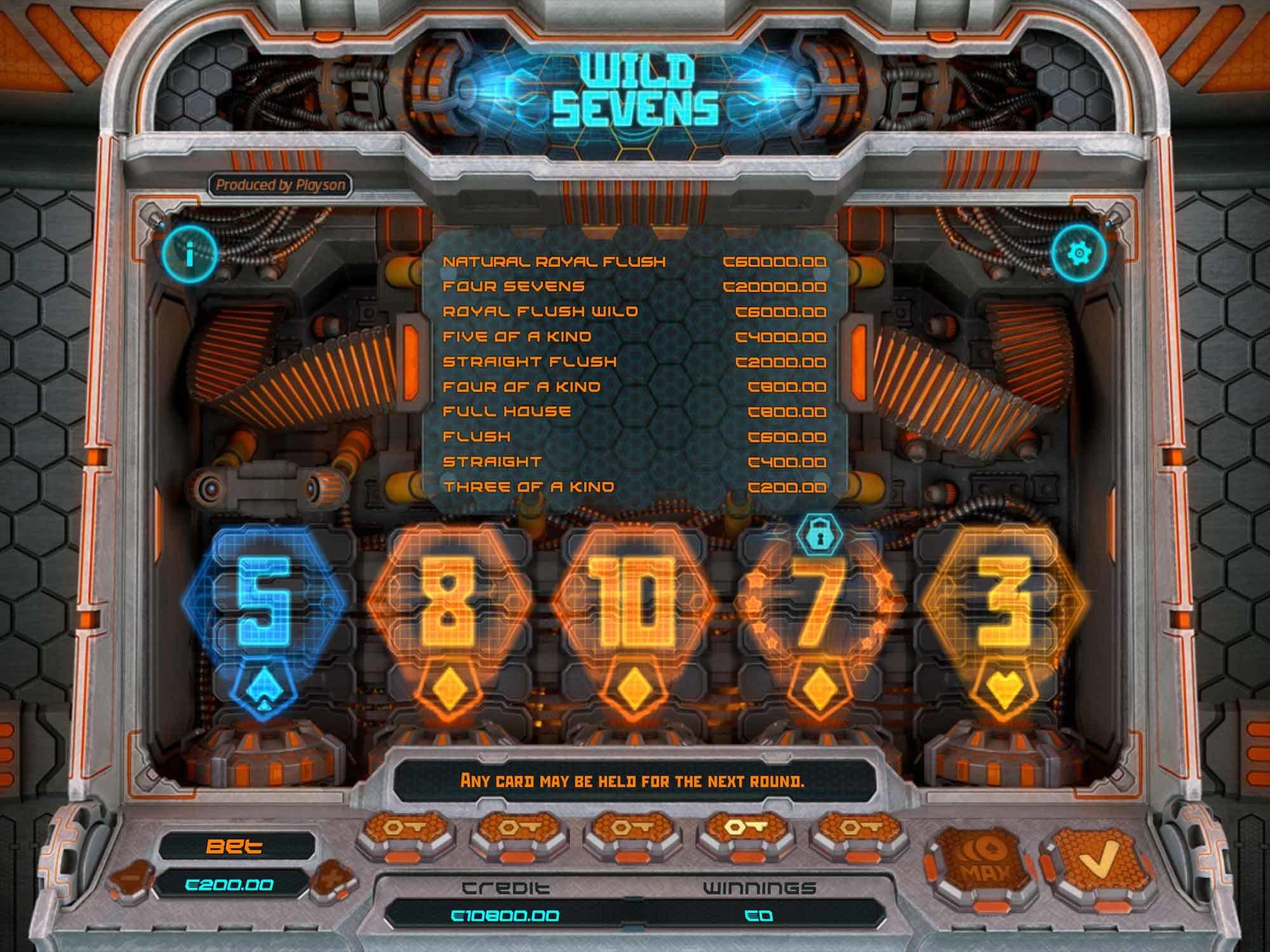 Wild Sevens screenshot