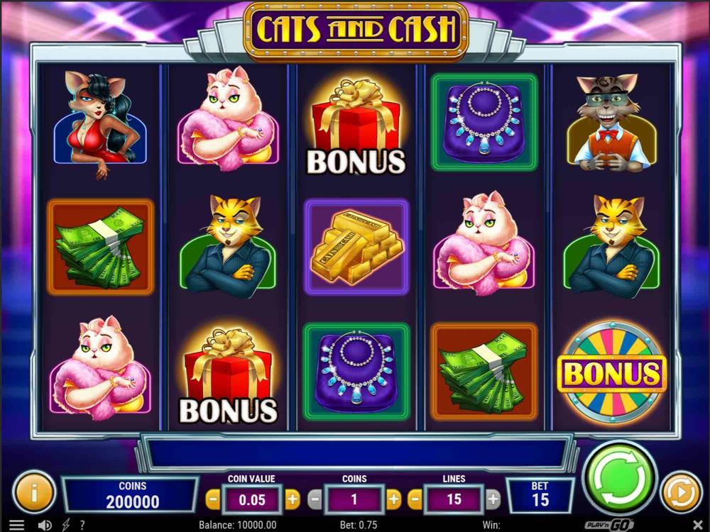 Cats and Cash Slot screenshot