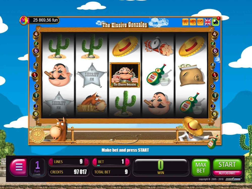 The Elusive Gonzales Slot screenshot