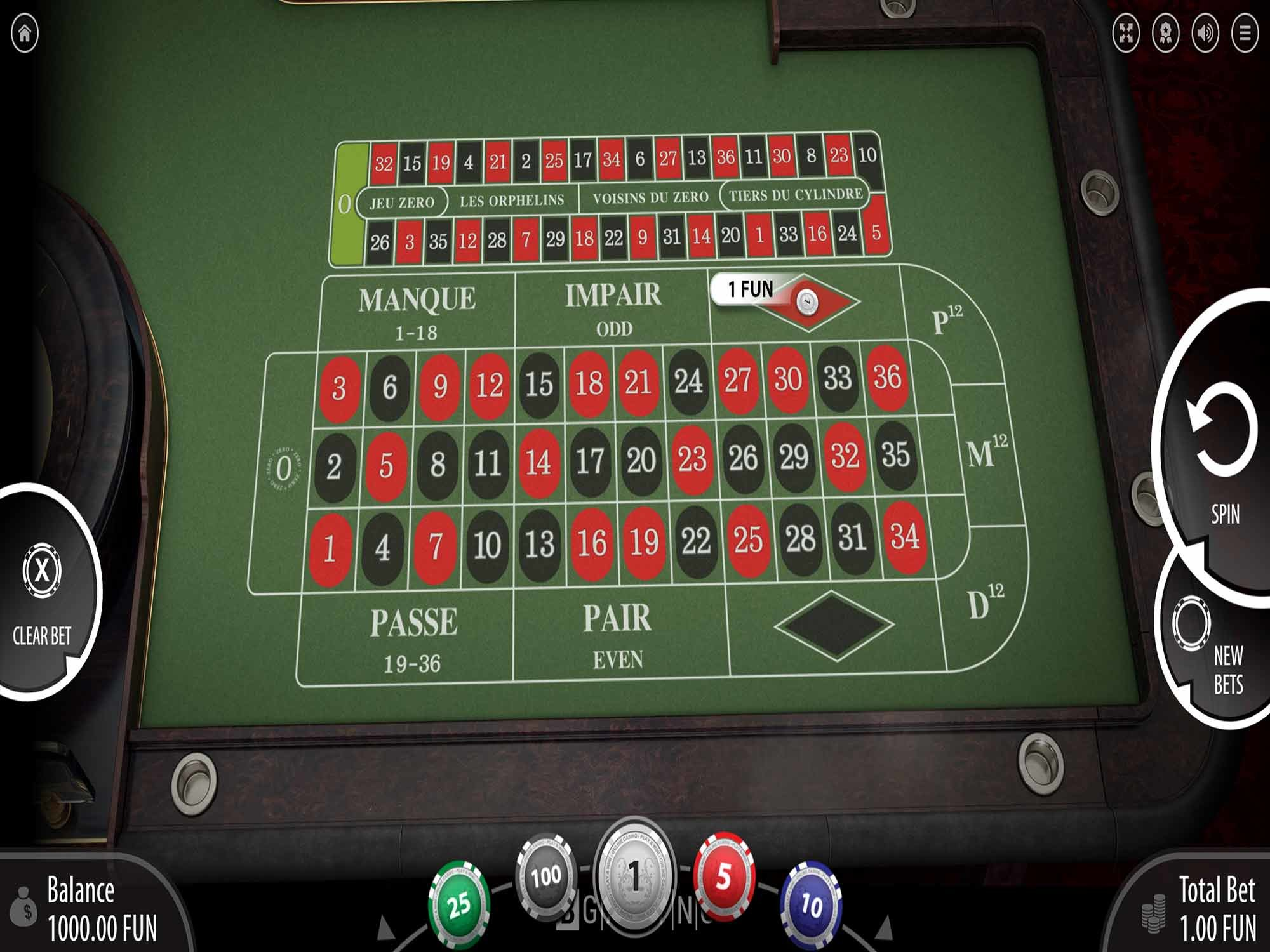 French Roulette by Bgaming screenshot