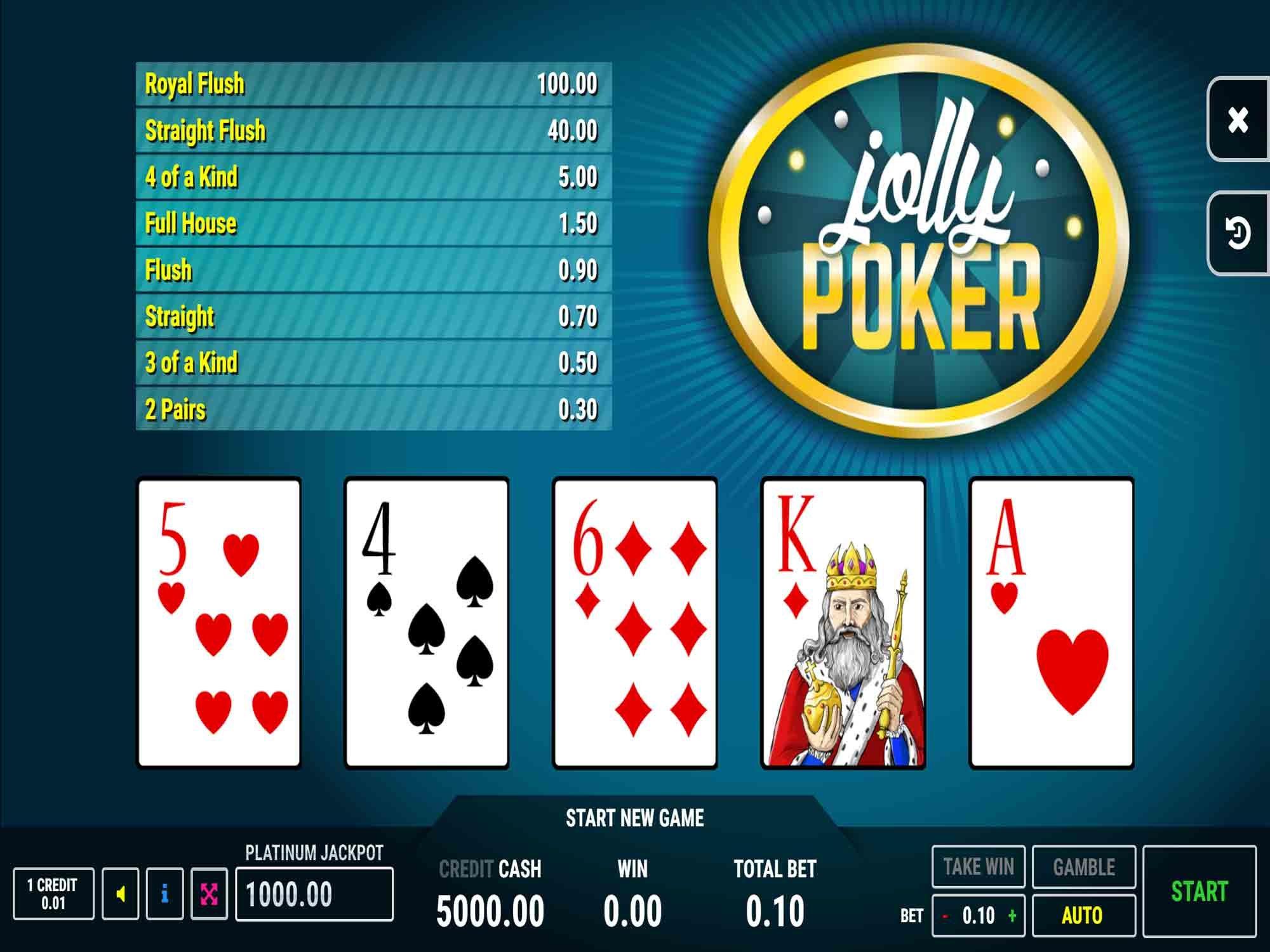 Jolly Poker Video Poker screenshot