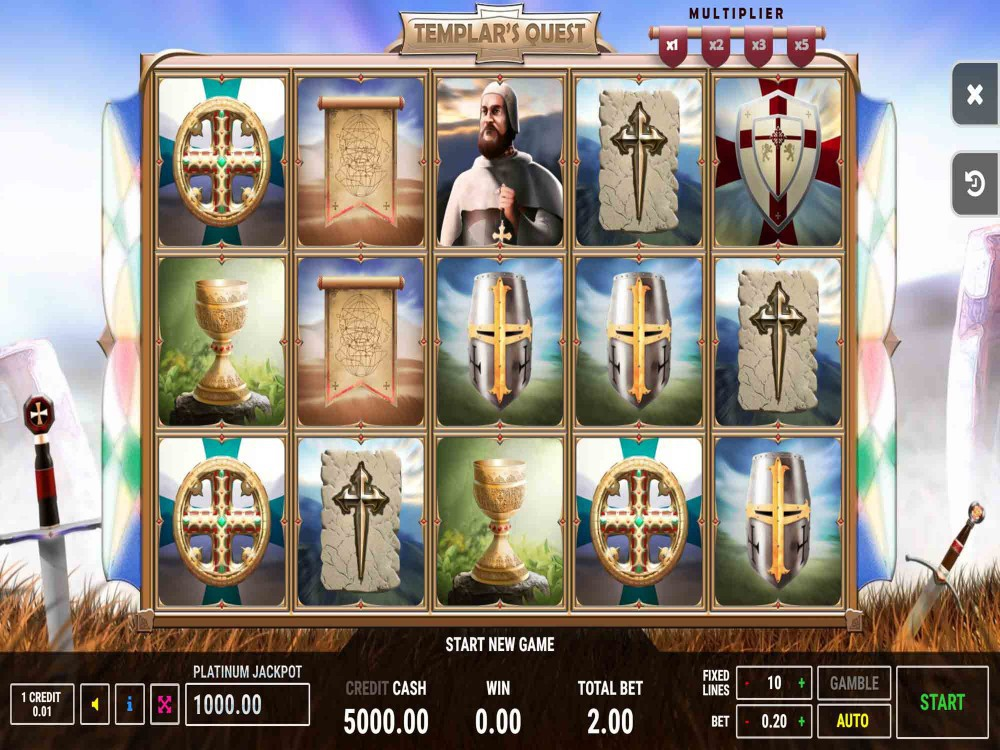 Templar's Quest Slot screenshot
