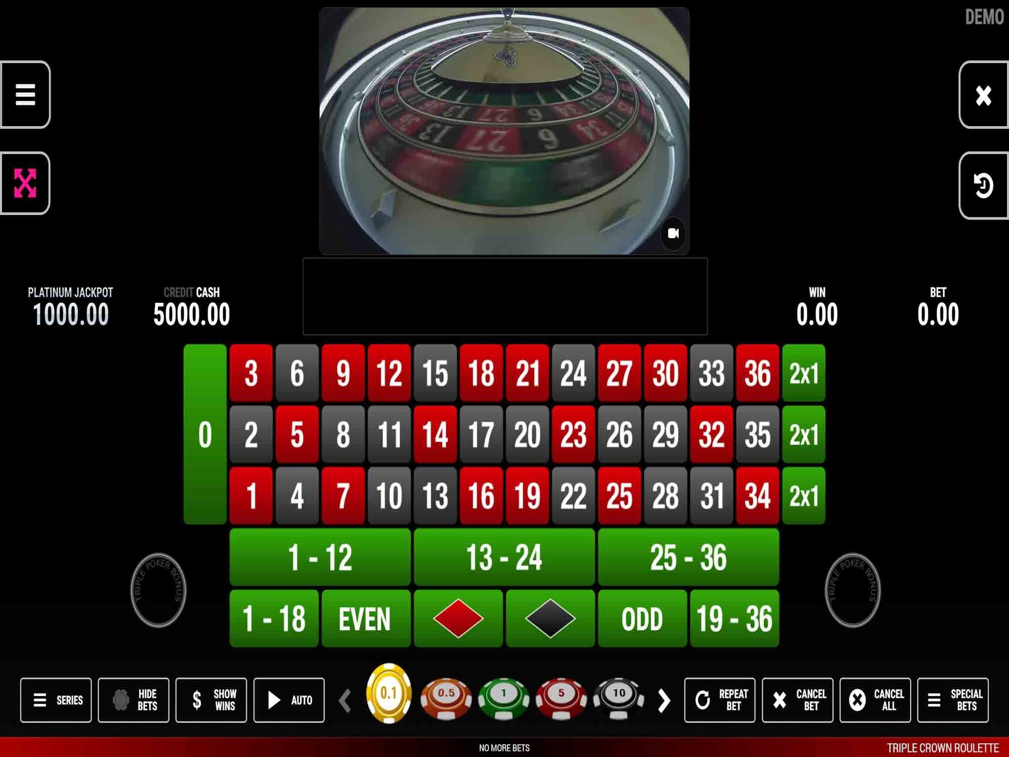 Triple Crown Roulette by Fazi screenshot