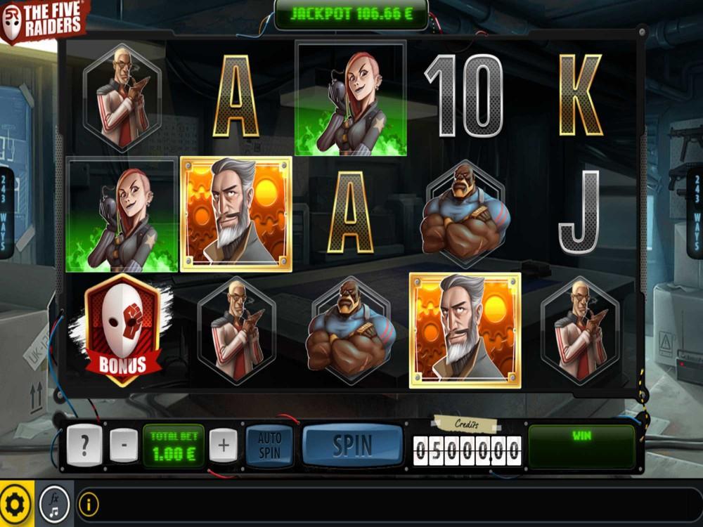 Five Raiders Slot screenshot