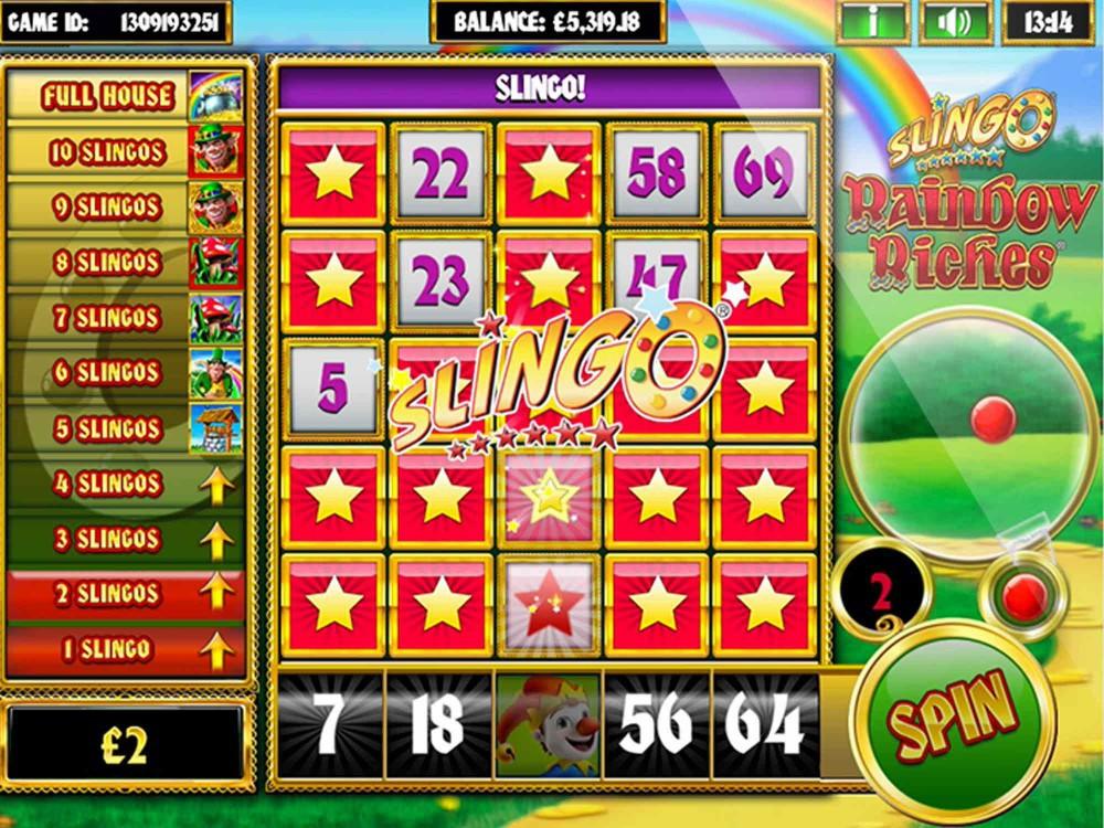 Slingo Rainbow Riches Slot - Slots - GamblersPick