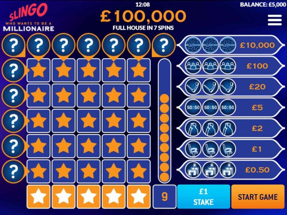 Slingo Who Wants To Be A Millionaire Slot - Slots - GamblersPick