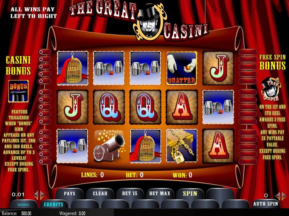 Spiele The Great Casini - Video Slots Online