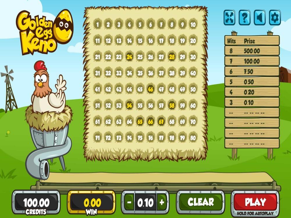 Golden Egg Keno screenshot