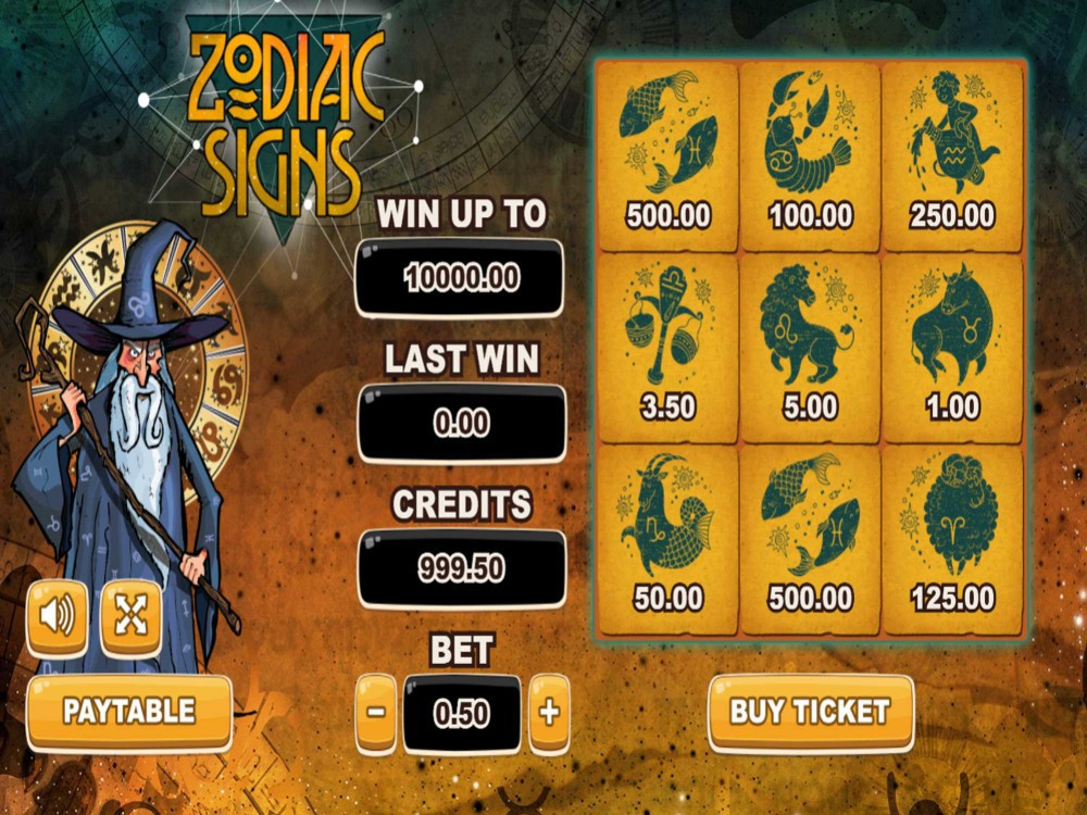 Zodiac Signs Fixed Odds Games Gamblerspick
