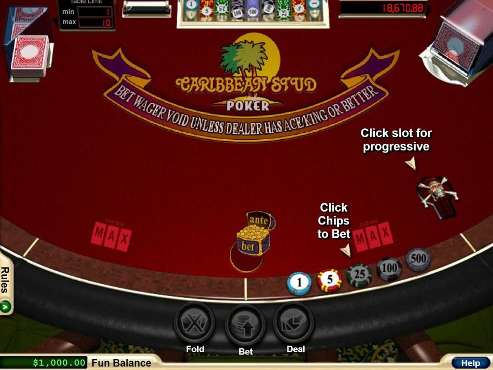 Rtg Caribbean Stud Poker Poker Games Gamblerspick