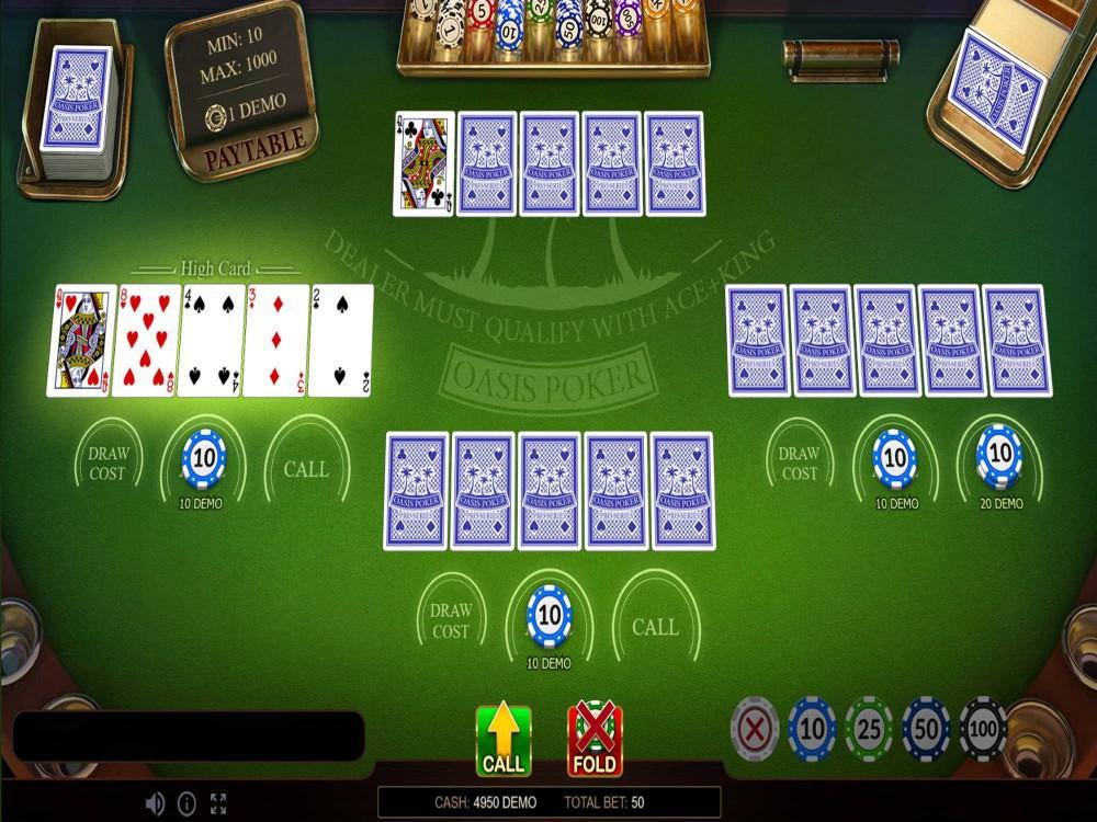Oasis Poker by Evoplay screenshot