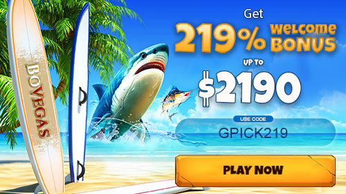 Amazing 219% Up To €2190 BoVegas Casino Welcome Package