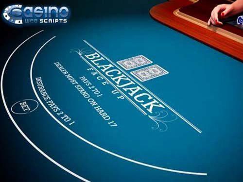 Blackjack 21 Faceup 3D Dealer