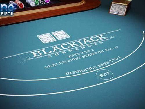Blackjack 21 Surrender 2D is a Blackjack Surrender