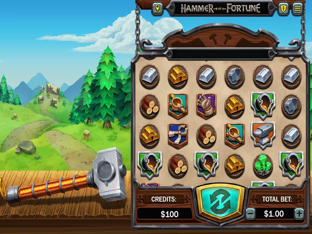 Hammer of Fortune Slot screenshot
