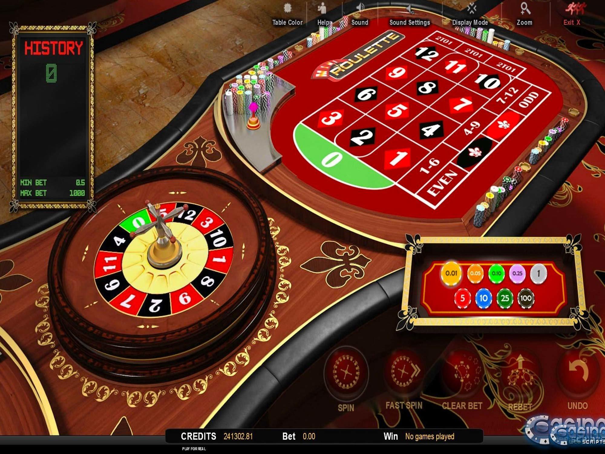 Mini Roulette 3D Game by CasinoWebScripts screenshot