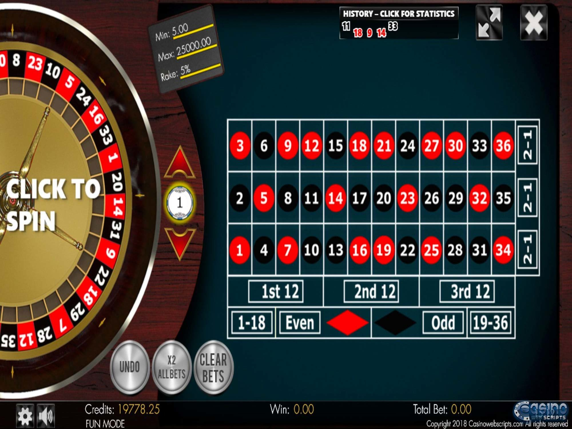 Spiele No-Zero Roulette 3D Advanced - Video Slots Online