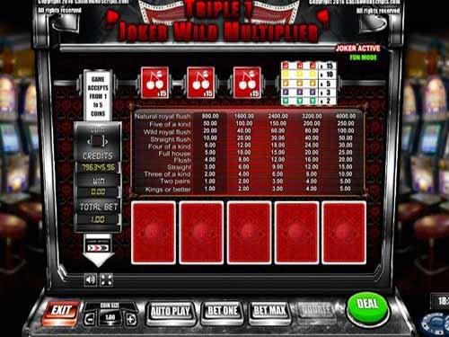 Triple 7 Joker Wild Slot Multiplier