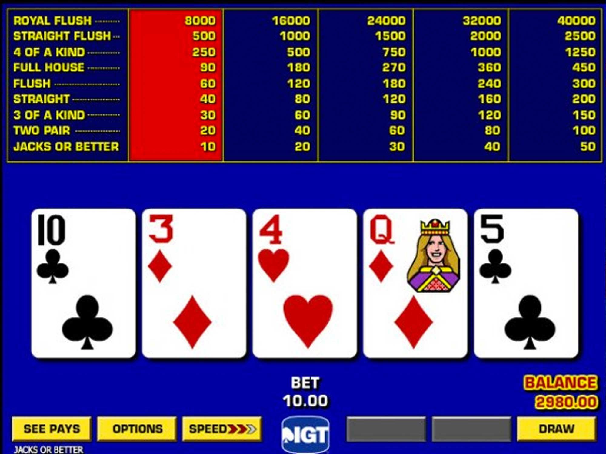 Game King Video Poker screenshot