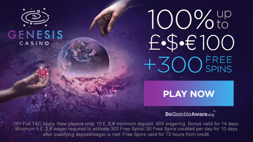 Reach For The Stars With Up To 100 300 Free Spins From Genesis