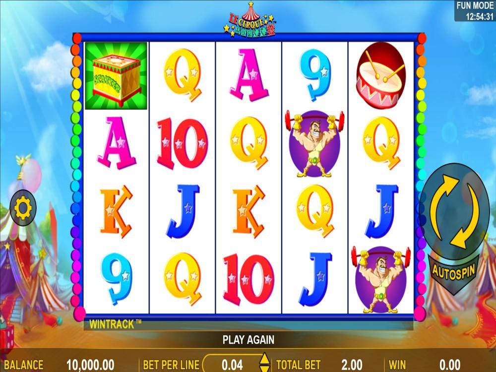 Le Cirque Slot screenshot