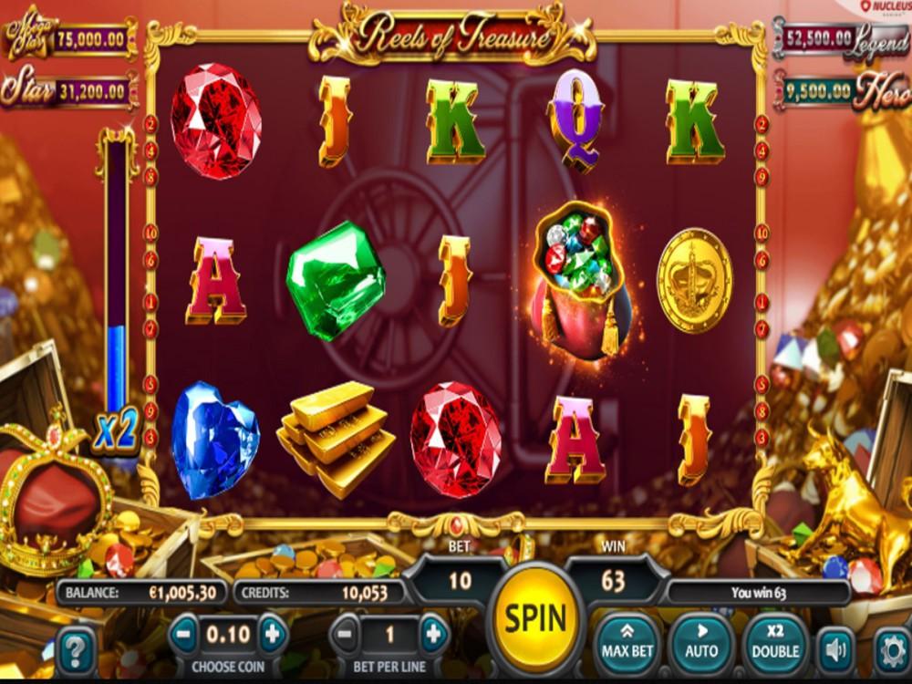 Reels Of Treasure Slot by Nucleus Gaming screenshot
