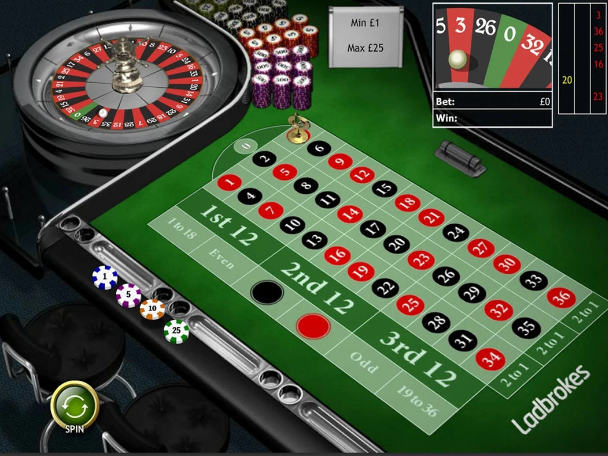 Playtech Classic Roulette screenshot