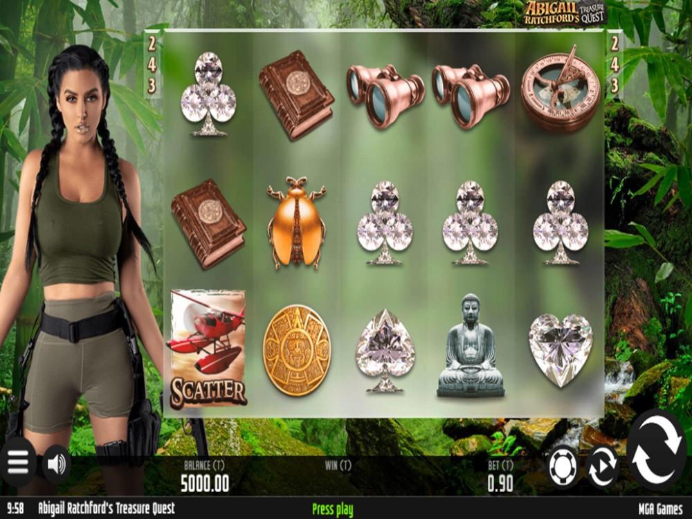 Abigail Ratchford's Treasure Quest Slot by MGA screenshot