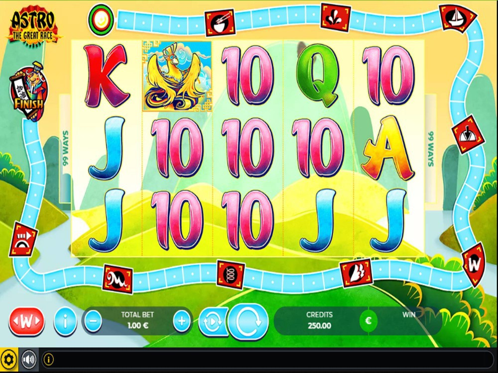 Astro The Great Race Slot by GAMING1 screenshot