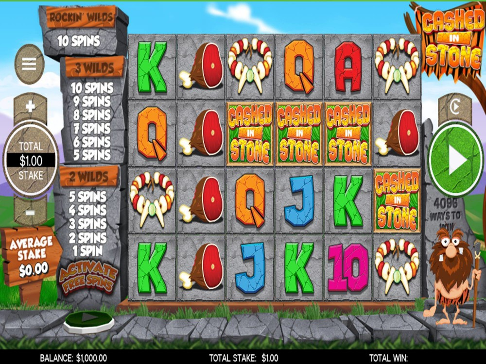 Cashed In Stone Slot by CORE Gaming screenshot